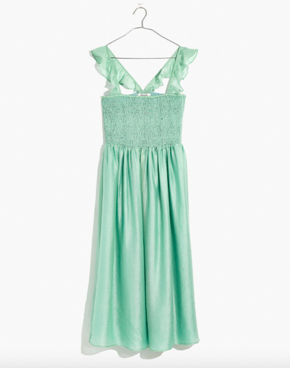 Madewell Ruffle-Strap Smocked Dress, $118 (was $138), available here.
