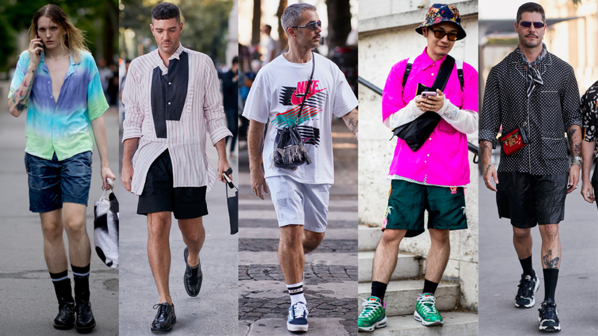 Street style at Paris Fashion Week Men's Spring 2020.