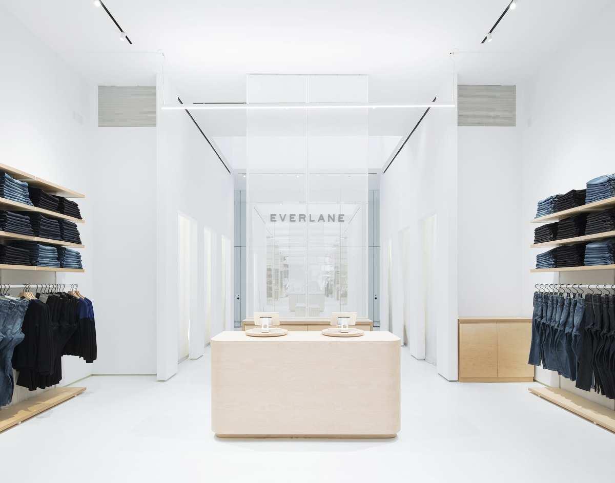 Inside Everlane's NYC store. Photo: Naho Kubota/Everlane