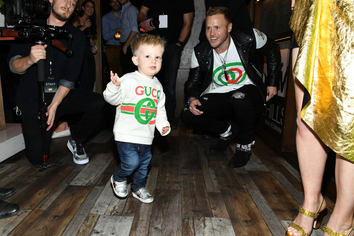 """Spencer Pratt and Gunnerat the party for the premiere of """"The Hills: New Beginnings."""" Photo: Amy Sussman/Getty Images"""