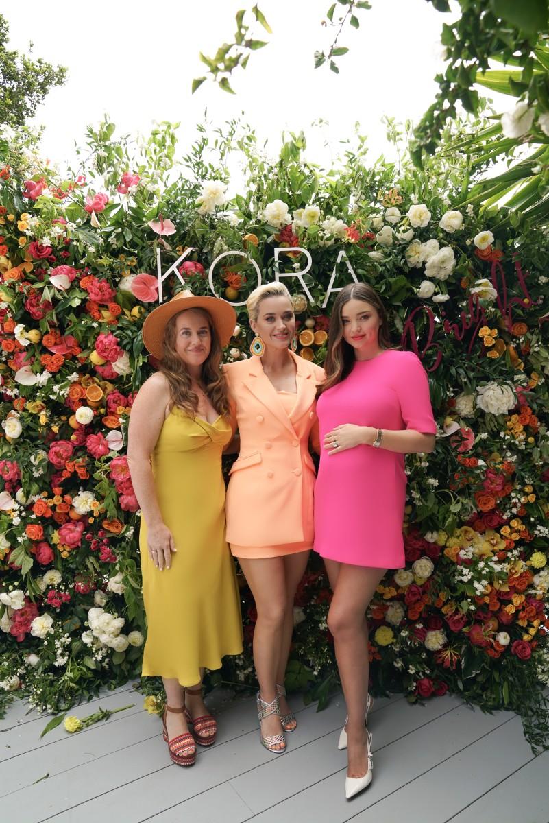 Angela Hudson (Katy Perry's sister), Katy Perry, Miranda Kerr.Photo: Courtesy of Kora Organics