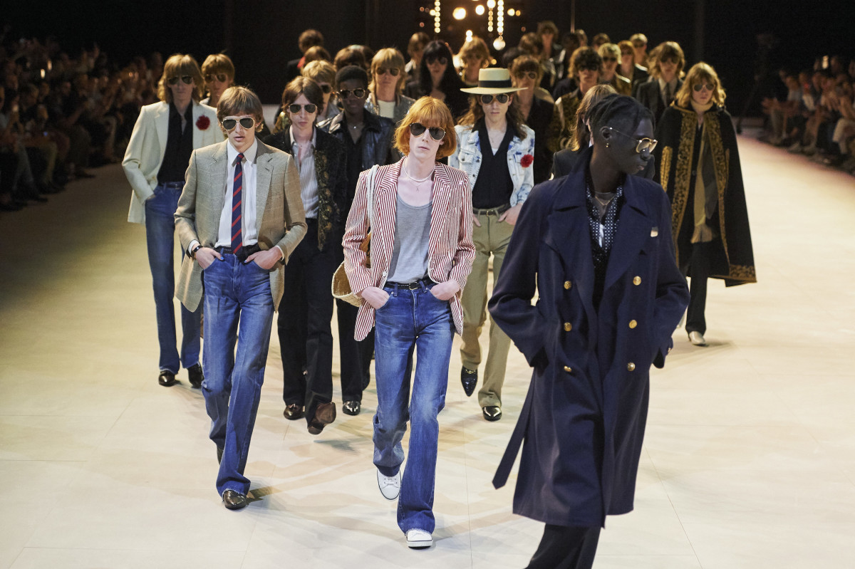 The Celine men's Spring 2020 finale. Photo: Imaxtree