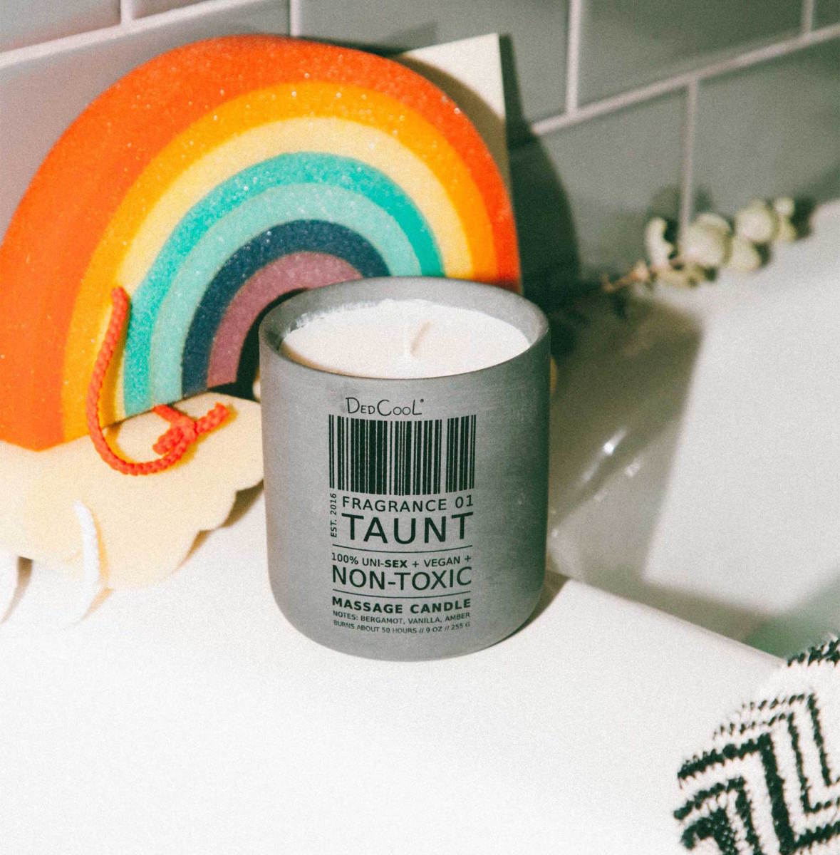 DedCool Massage Candle 01 Taunt, $55, available here. Photo: Courtesy of DedCool
