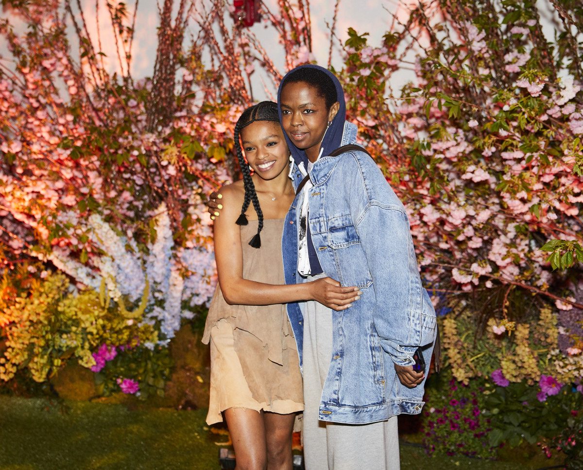 Marley and her mother Lauryn Hill at the opening of her art installation, A Primordial Place. Photo:Adam Kargenian/Courtesy of Selah Marley