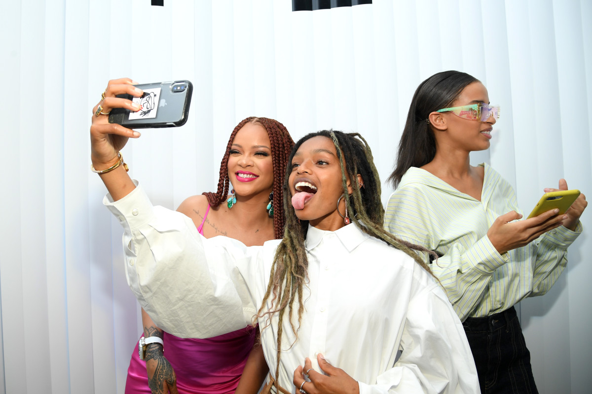 Rihanna and Marley take a selfie at the Fenty x The Webster pop-up in June. Photo: Dimitrios Kambouris/Getty Images for Fenty