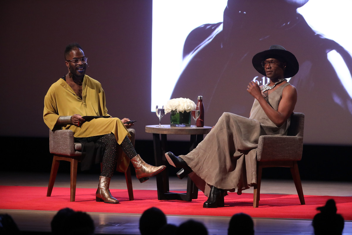 madison moore and Billy Porter in conversation at the Metropolitan Museum of Art. Photo: Taylor Hill/Getty Images