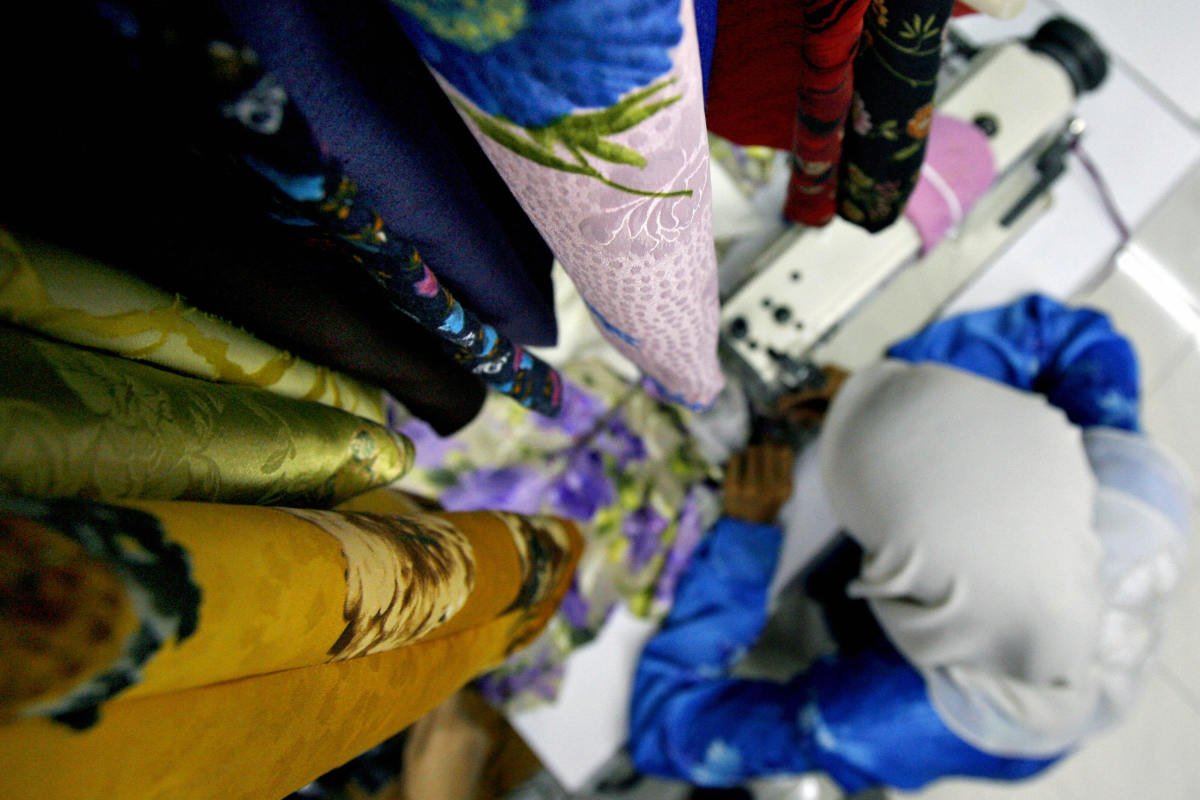A garment being sewn in Malaysia. Photo: Tengku Bahar/AFP/Getty Images