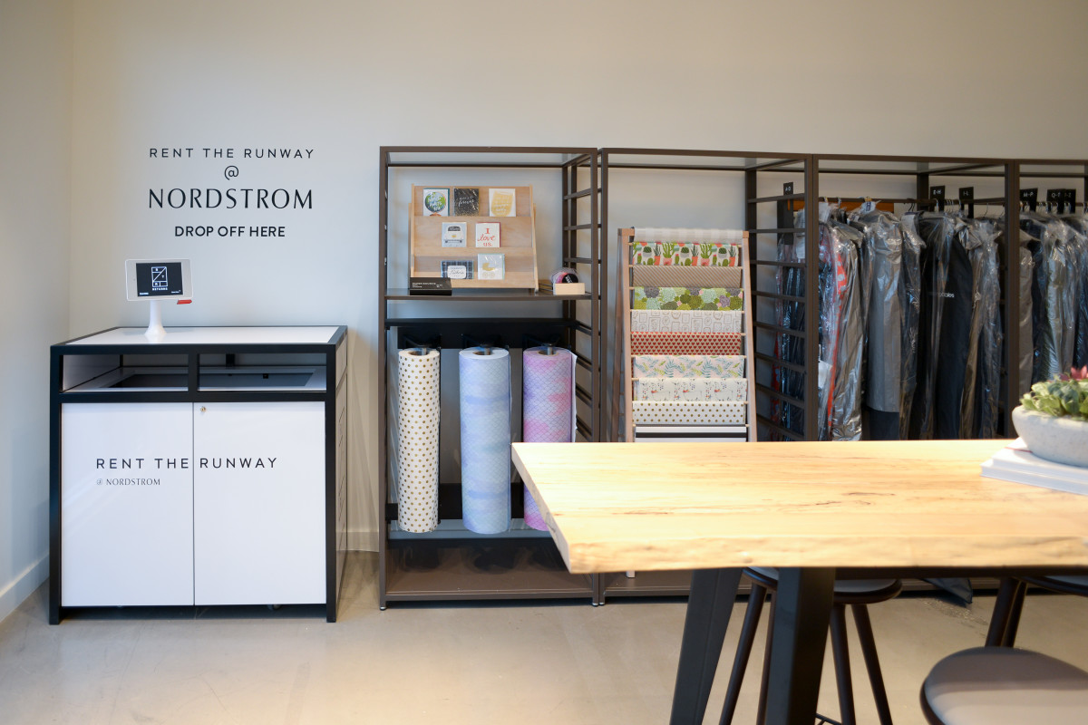 Rent the Runway kiosk at Nordstrom Local Melrose. Photo: Courtesy of Nordstrom