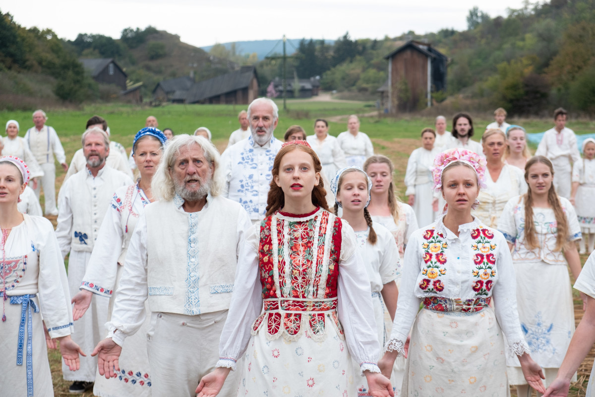 Maja (Isabelle Grill, center at the May Queen ceremony. Photo: Csaba Aknay/Courtesy of A24