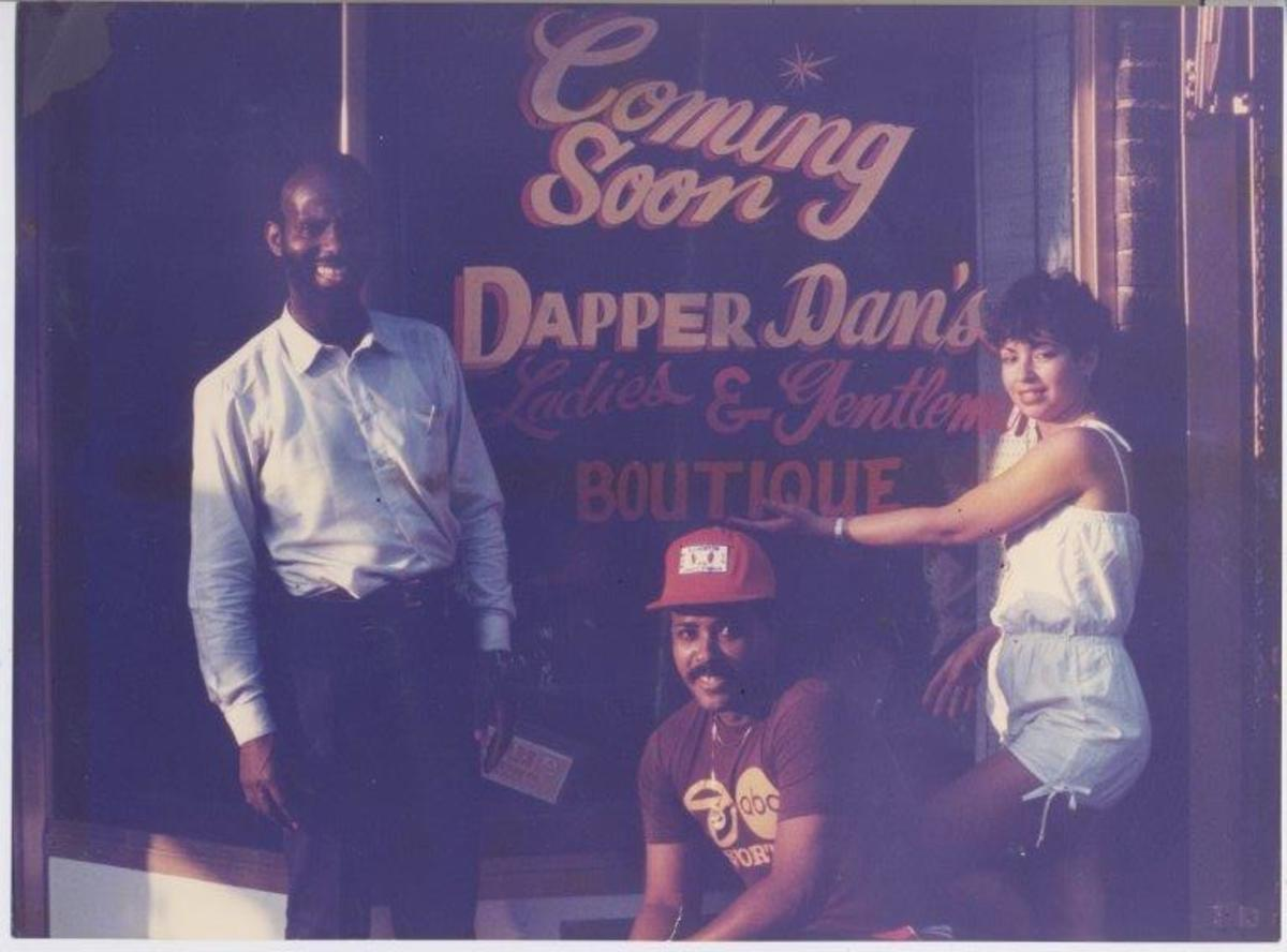 The opening of the first Dapper Dan''s store in 1983. Photo: Courtesy of Dapper Dan