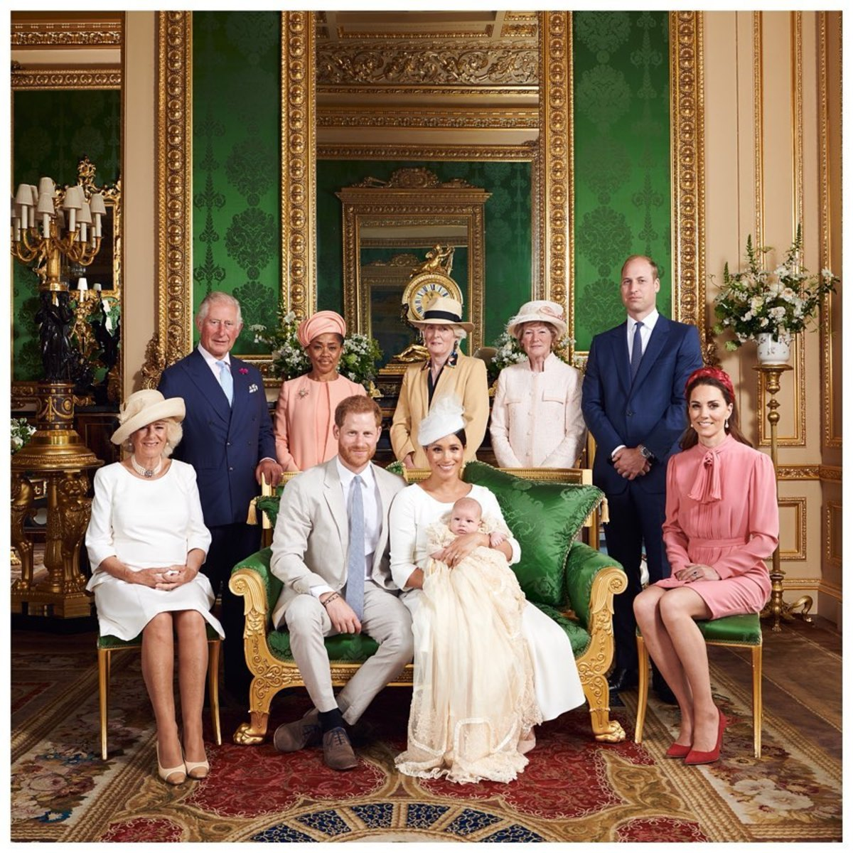 The royal family portrait for Archie's christening. Photo: Chris Allerton/Sussex Royal/AFP