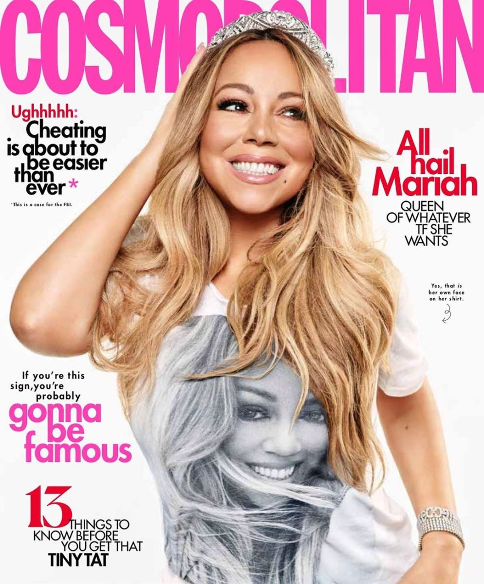 "Mariah Carey on the August 2019 cover of ""Cosmopolitan."" Photo: Jason Kim for ""Cosmopolitan"""