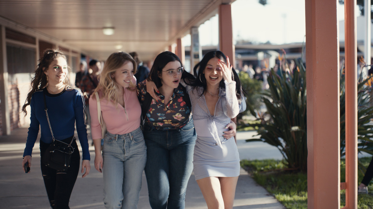 "Sophia-Rose Wilson, Sydney Sweeney, Barbie Ferreira and Alexa Demie in ""Euphoria."" Photo: Courtesy of HBO"