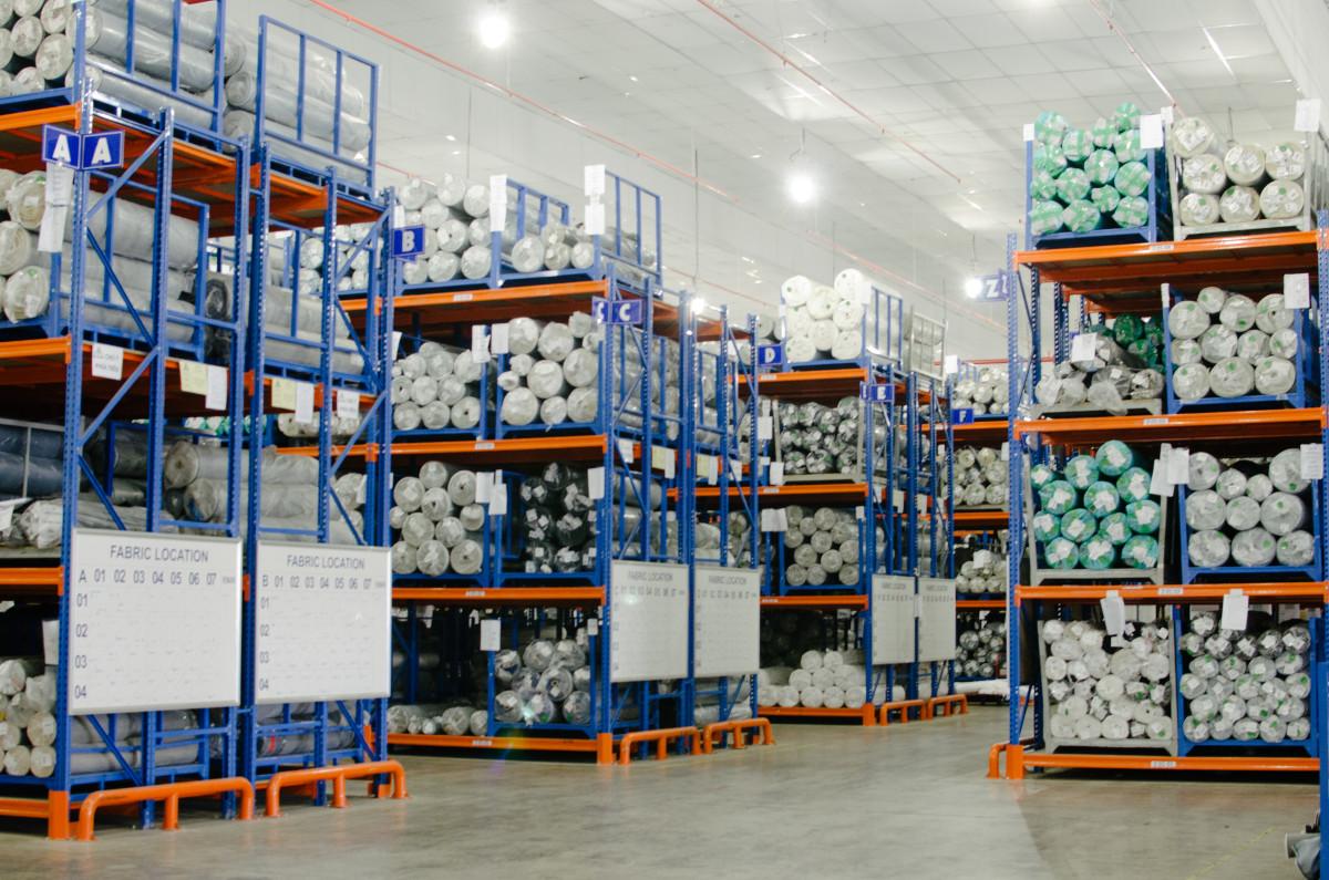 Inside the Saitex fabric warehouse. Photo: Whitney Bauck/Fashionista