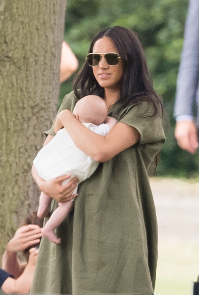 87a153656433 Meghan Markle, Duchess of Sussex, in a Lisa Marie Fernandez dress at the  King