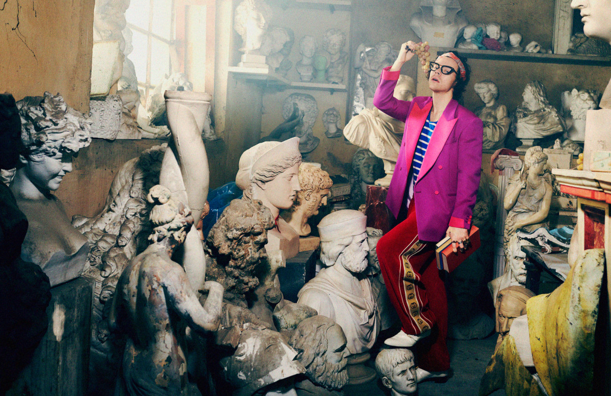 Harry Styles for Gucci. Photo: Harmony Korine/Courtesy of Gucci