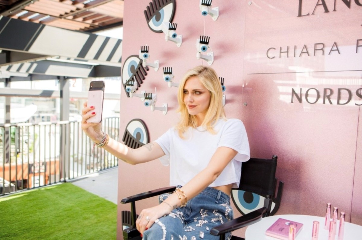 Chiara Ferragni promotes her Lancôme collaboration at Nordstrom. Photo: Courtesy of Nordstrom