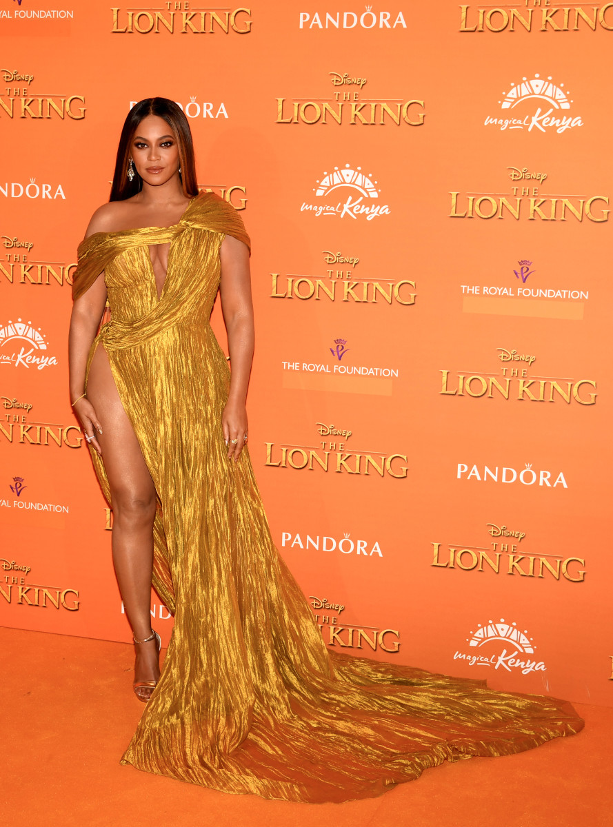 "Beyoncé in Cong Tri at the London premiere of ""The Lion King."" Photo: Gareth Cattermole/Getty Images"