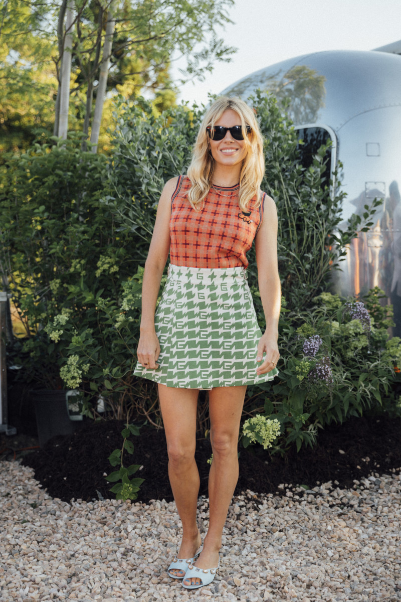 Sienna Miller in Gucci at the Gucci x Melet Mercantile collaboration in Montauk. Photo: Courtesy of BFA