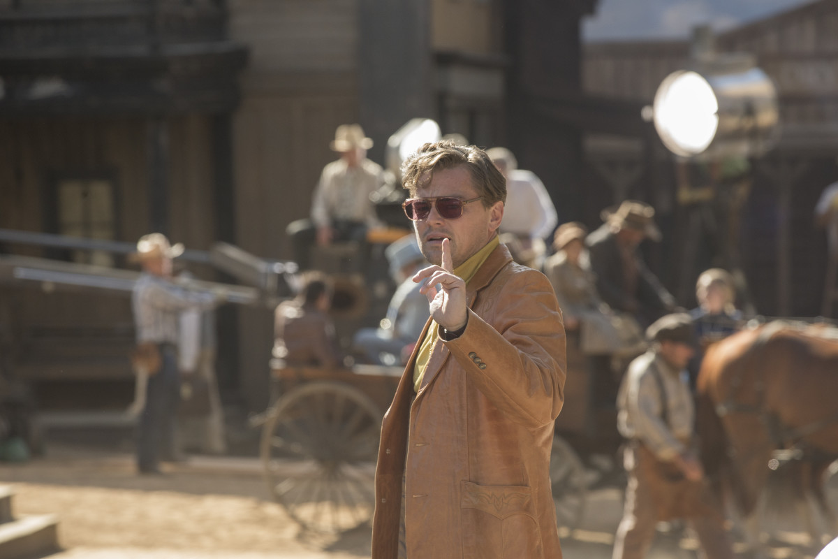 Rick on the 'Lancer' set. Photo: Andrew Cooper/Courtesy of Sony Pictures Entertainment