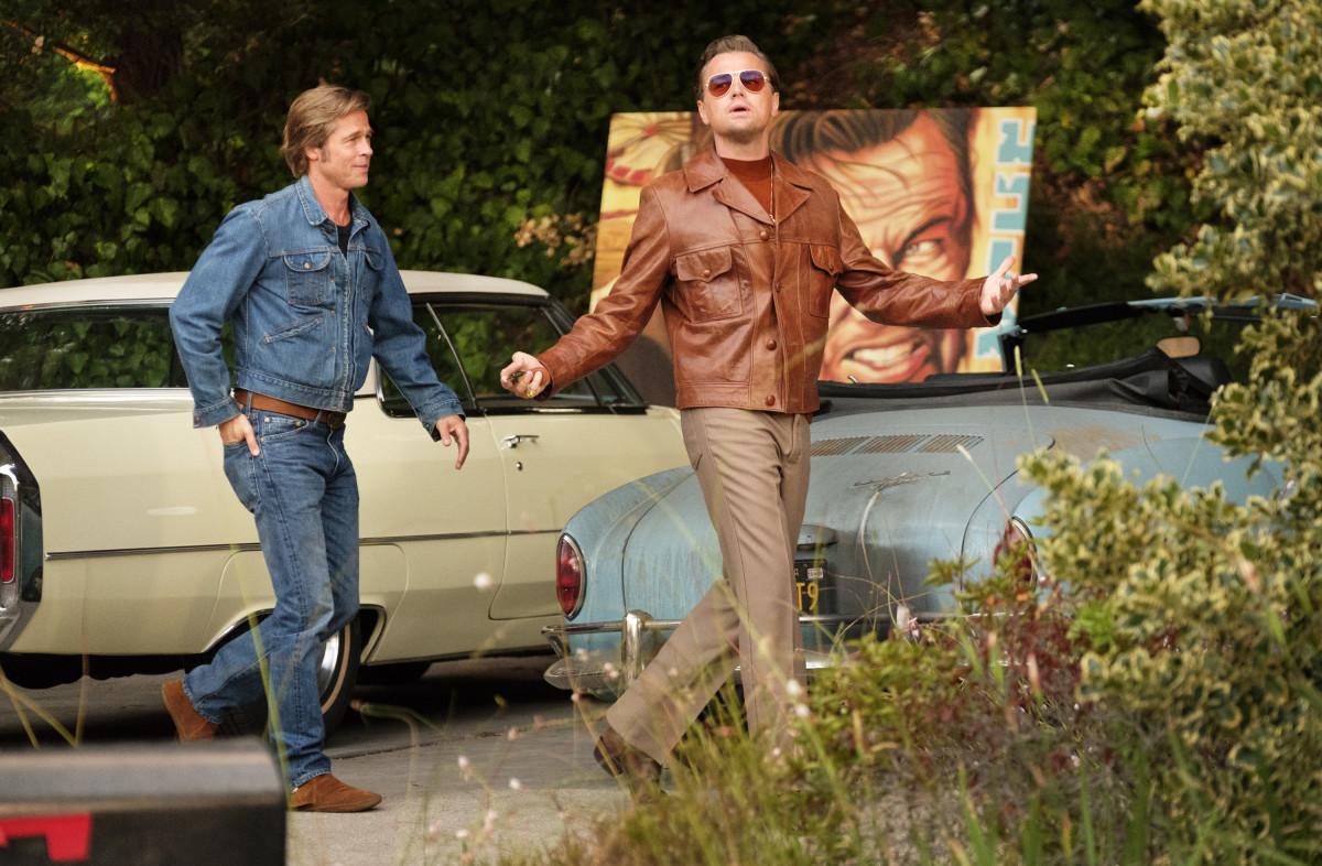 Cliff Richards (Brad Pitt) and Rick Dalton (Leonardo DiCaprio). Photo: Andrew Cooper/Courtesy of Sony Pictures Entertainment