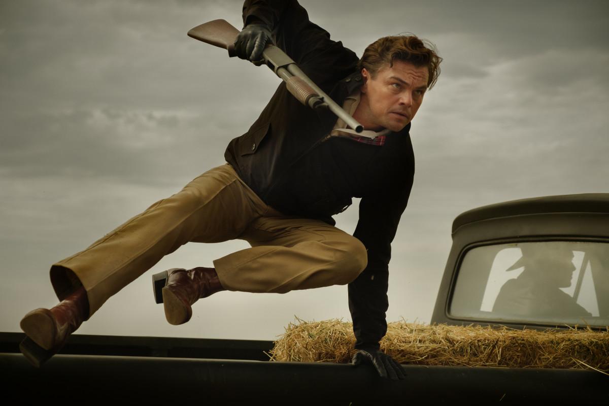 Rick Dalton (Leonardo DiCaprio) filming a scene in 'FBI' in 'OUATIH.' Photo: Andrew Cooper/Courtesy of Sony Pictures Entertainment