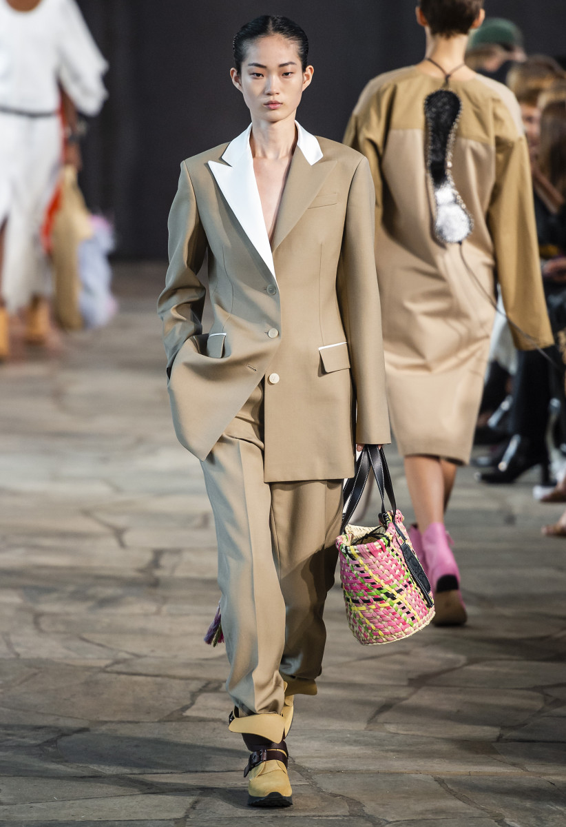 A look from the Loewe Spring 2019 collection. Photo: Imaxtree