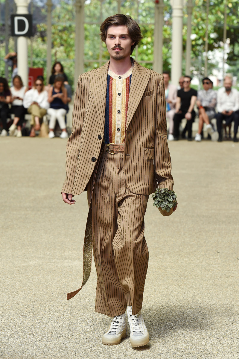 A look from Marco de Vincenzo's Spring 2020 menswear collection. Photo: Stefania M. D'Alessandro/Getty Images