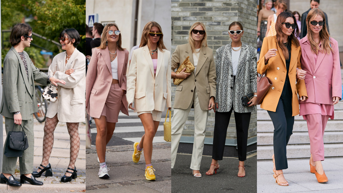 Street style at Copenhagen Fashion Week Spring 2020. Photos: Imaxtree