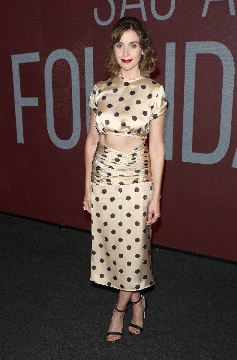 """Alison Brie in Orseund Iris at the SAG-AFTRA Foundation Conversations: """"Glow"""" in New York City. Photo: Jim Spellman/Getty Images"""