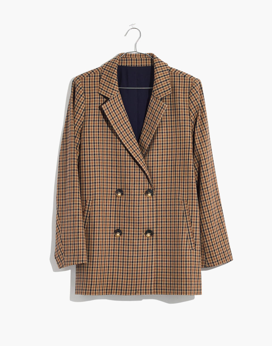Caldwell Double-Breasted Blazer in Desert Check, $168, available here.