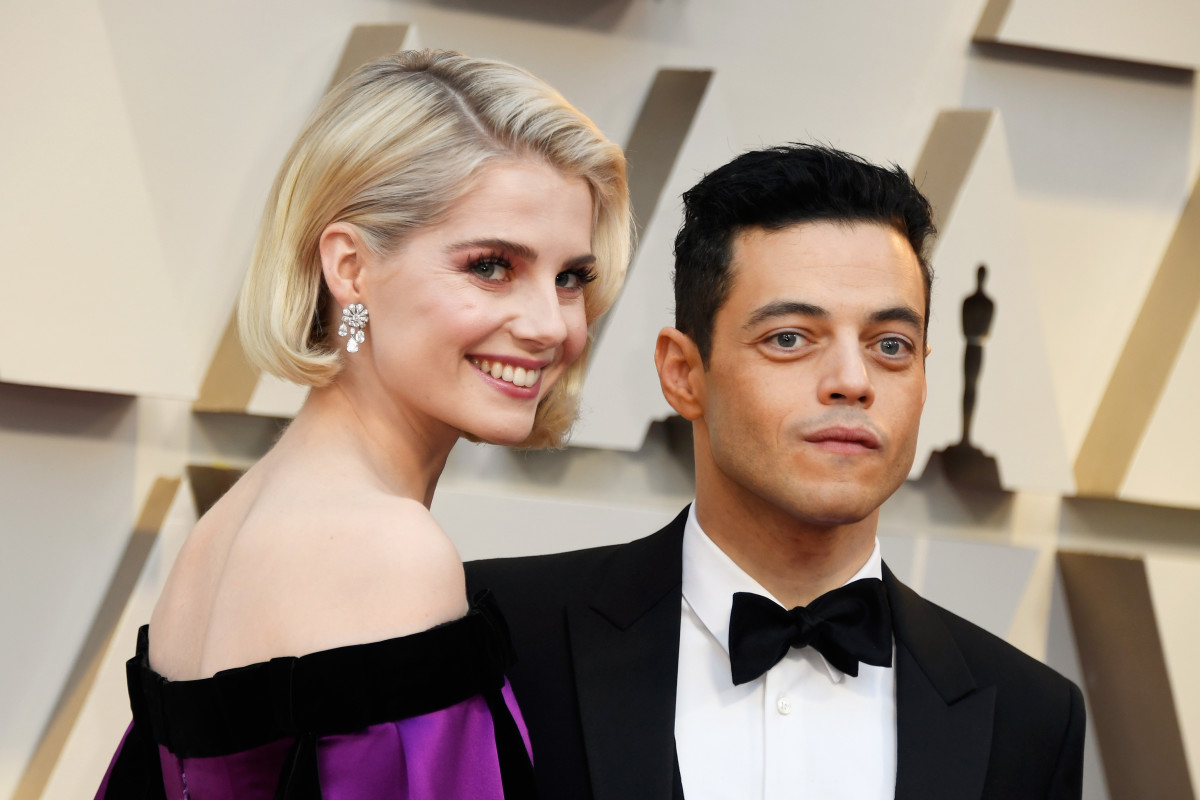 Lucy Boynton and Rami Malek at the 2019 Annual Academy Awards. Photo: Frazer Harrison/Getty Images