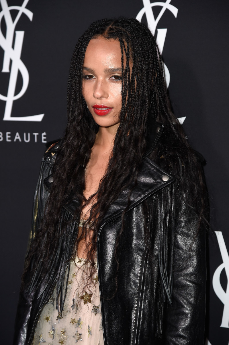 Zoe Kravitz at a YSL Beauty event in Los Angeles. Photo: Frazer Harrison/Getty Images