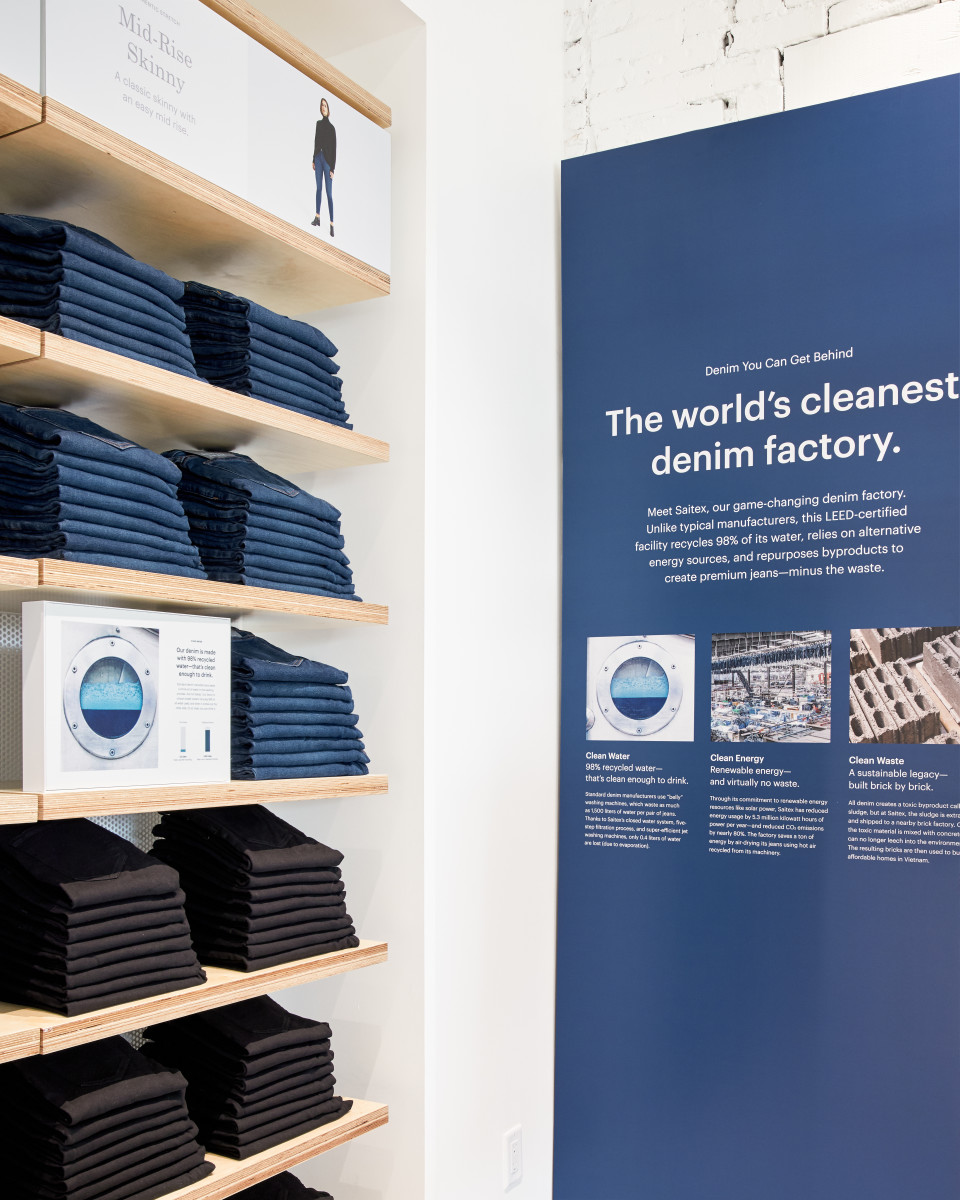 Denim at Everlane Venice. Photo: Courtesy of Everlane