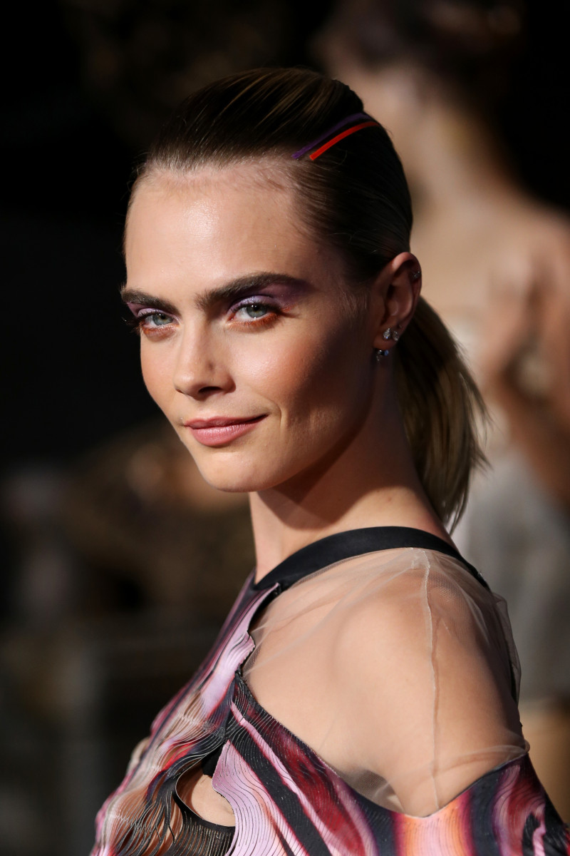 "Cara Delevingne at the premiere of Amazon's ""Carnival Row"" in Los Angeles. Photo: Phillip Faraone/Getty Images"