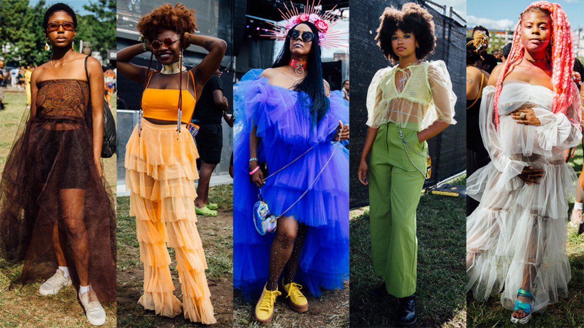 Tulle Was A Festival Fashion Favorite At Afropunk 2019