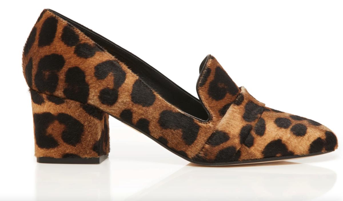 Tamara Mellon 'Fellini' in Leopard Haircalf, $595, available here.