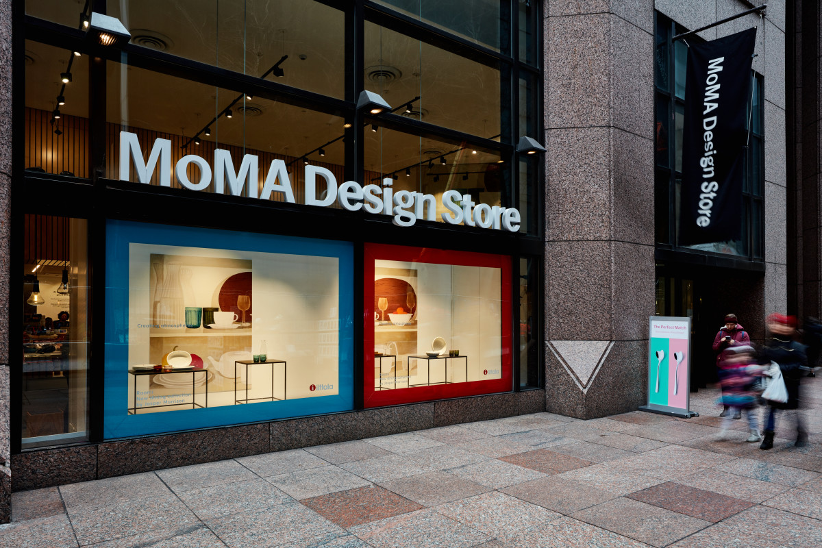 The exterior of the MoMa Design Store, the iconic retail offering from New York City's Museum of Modern Art. Photo: Courtesy of The Museum of Modern Art