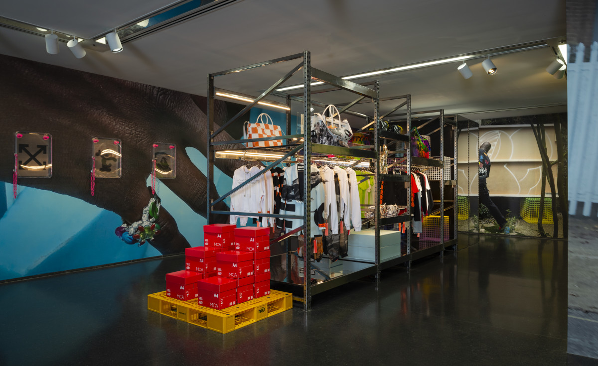"Inside ""Church & State,"" the ""Virgil Abloh: Figures of Speech"" pop-up store at the Museum of Contemporary Art Chicago. Photo: Virgil Abloh/Katrina Wittkamp/Courtesy of the Museum of Contemporary Art Chicago"