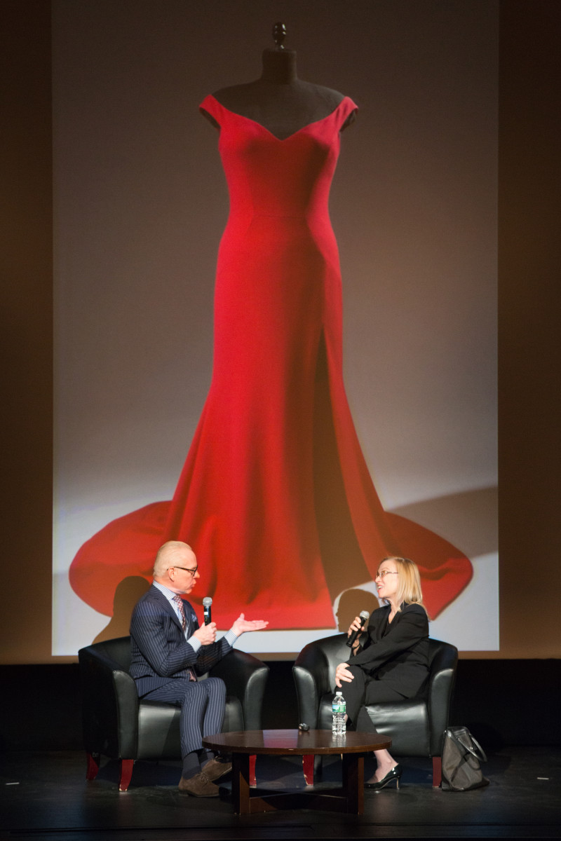"Tim Gunn and Dr. Valerie Steele in conversation at the ""Body: Fashion and Physique"" Symposium. Photo: Courtesy of The Museum at FIT"