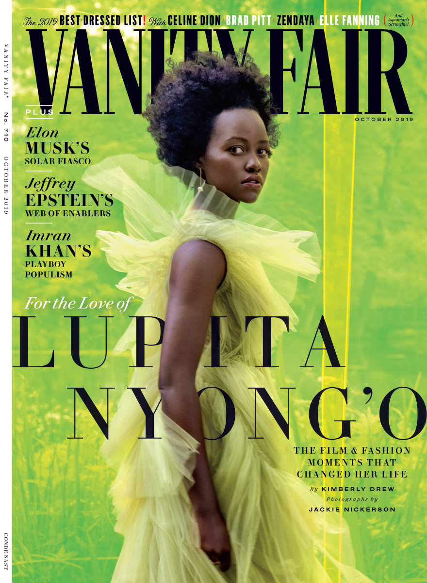 "Lupita Nyong'o on the October 2019 cover of ""Vanity Fair."" Photo: Jackie Nickerson"