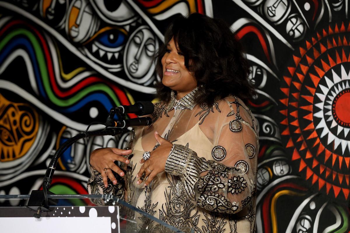 Julee Wilson speaks during the 'Essence' Best In Black Fashion Awards in New York City. Photo: Bennett Raglin/Getty Images