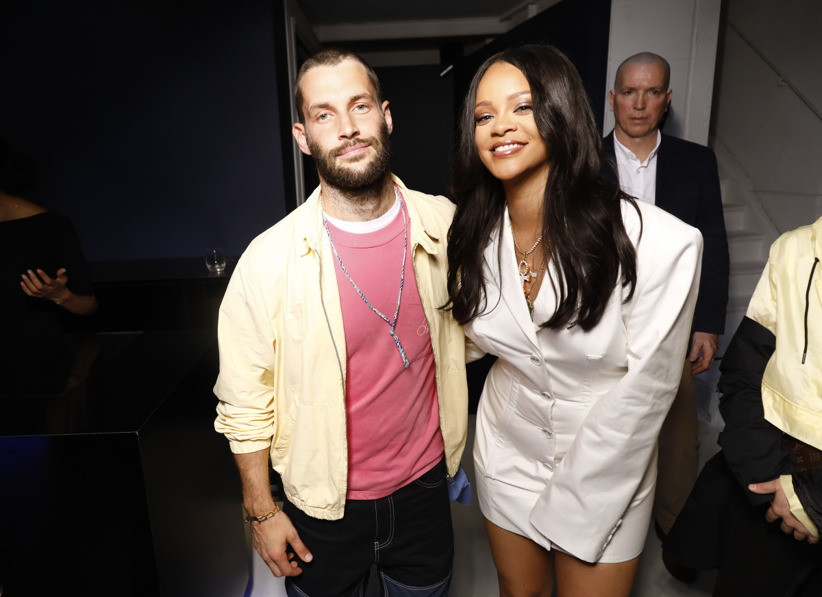 Simon Porte Jacquemus and Rihanna at the Fenty launch party in Paris. Photo: Julien Hekimian/Getty Images for Fenty