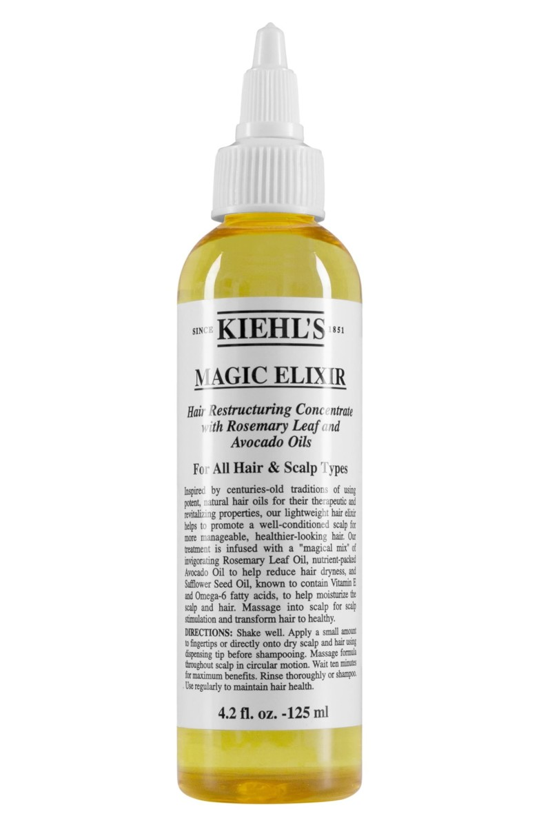 Kiehl's Magic Elixir Hair Restructuring Concentrate, $20, available here.