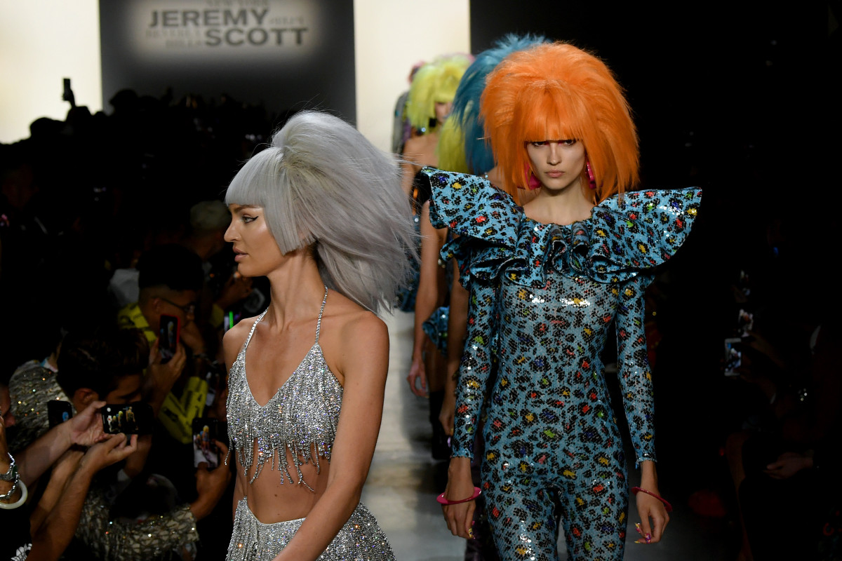 Looks from the Jeremy Scott Spring 2020 collection. Photo: Imaxtree