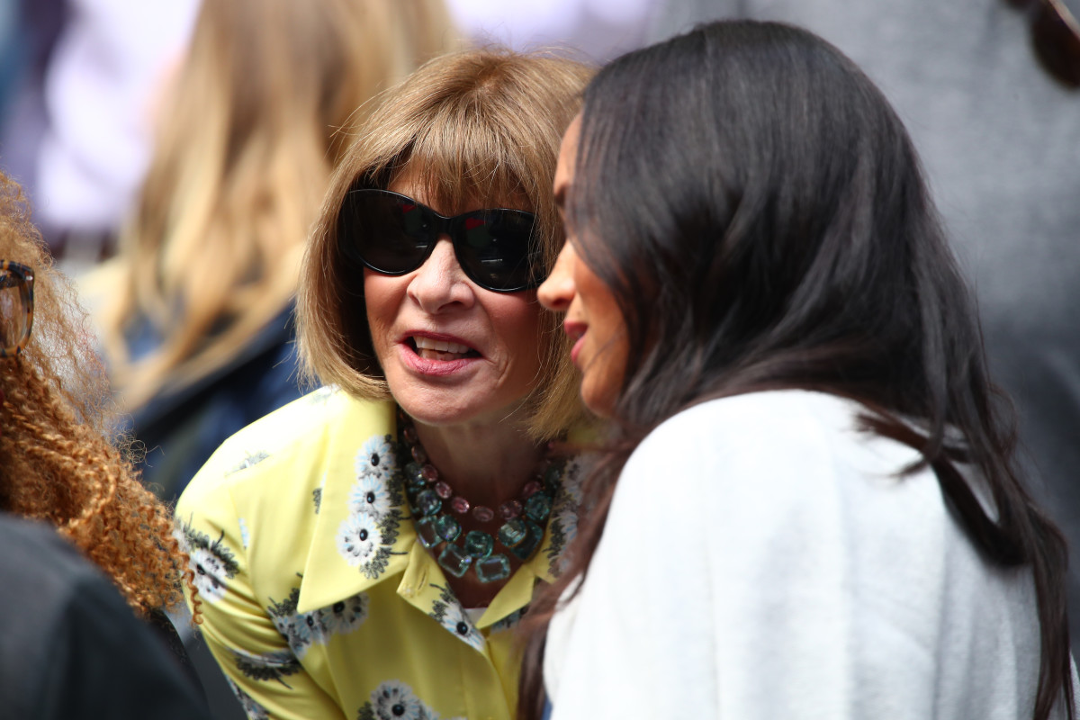 Anna Wintour and Meghan Markle at the U.S. Open. Photo: Clive Brunskill/Getty Images