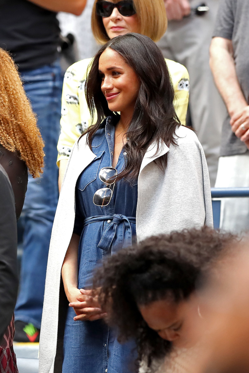 Meghan Markle in J.Crew at the U.S. Open. Photo: Clive Brunskill/Getty Images