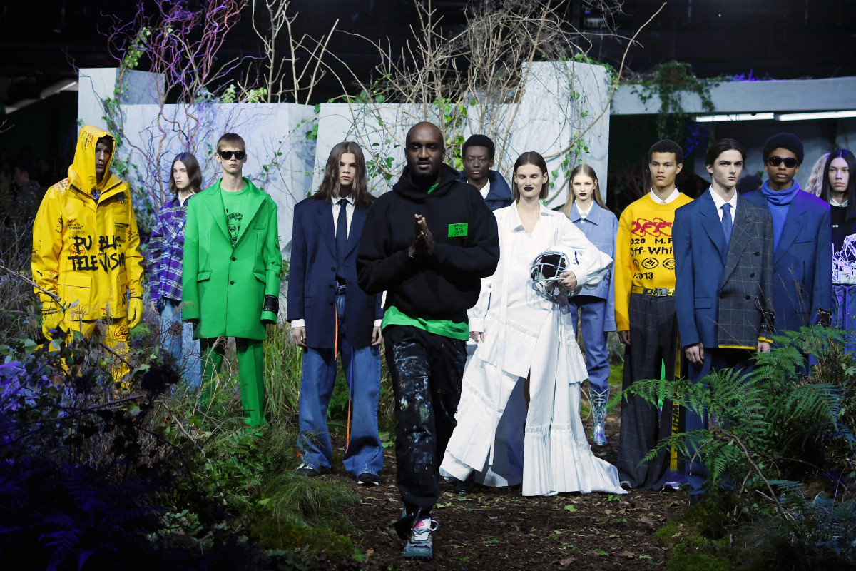 Virgil Abloh at his Off-White Fall 2019 during Paris Fashion Week. Photo: Pascal Le Segretain/Getty Images