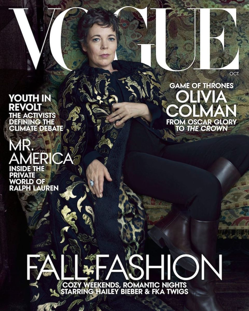 """Olivia Colman on the October cover of """"Vogue."""" Photo: Annie Leibovitz"""