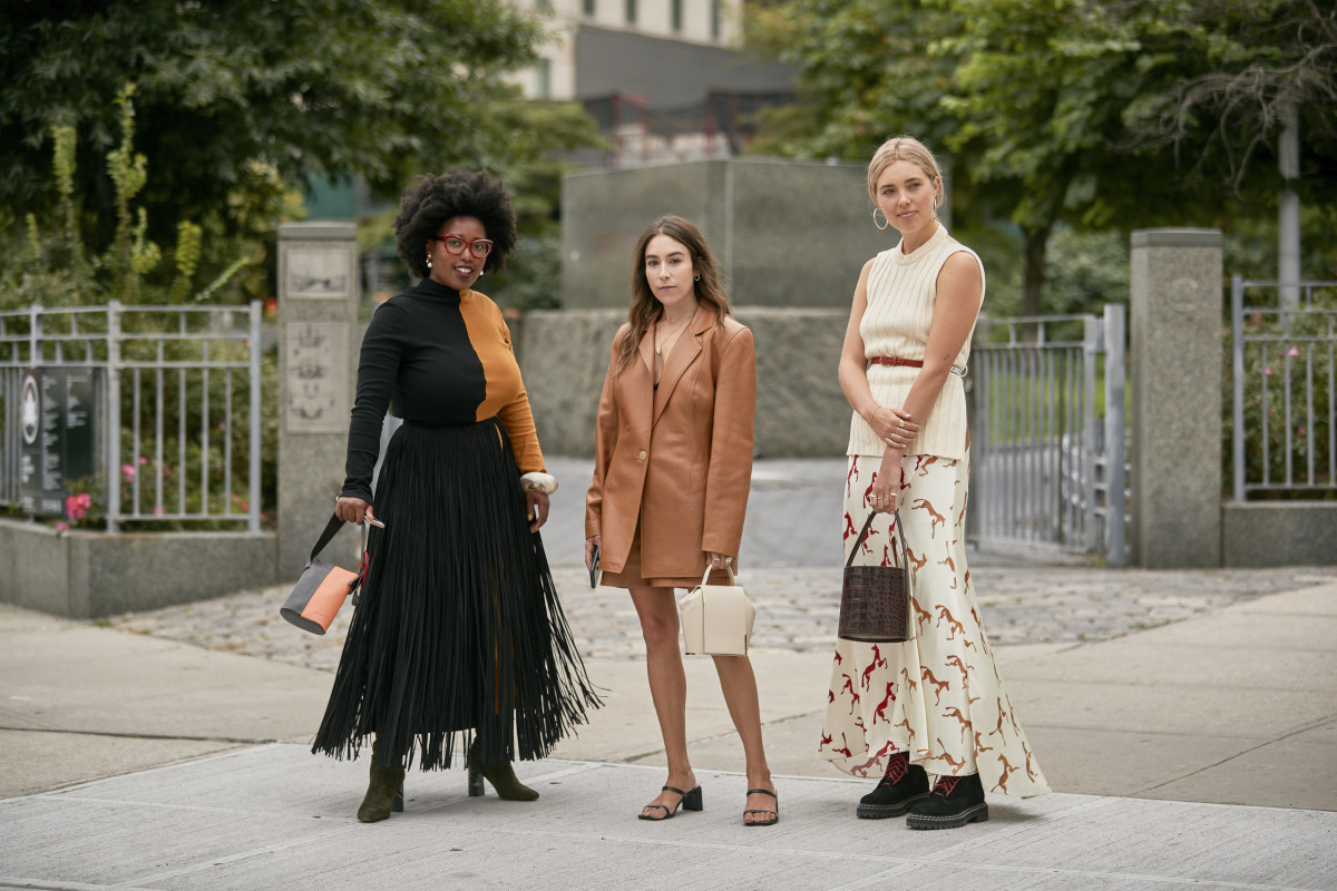On the street at New York Fashion Week Spring 2020. Photo: Imaxtree